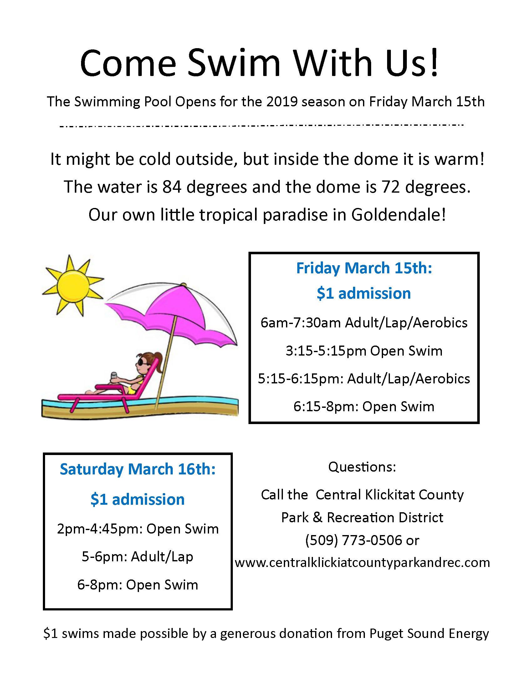2019 Opening Weekend Dollar Swim